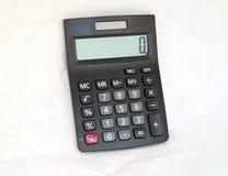 Czarny kalkulator na białym tle, Odgórny widok obraz stock