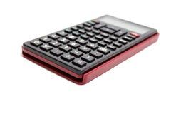 Czarny kalkulator odizolowywający na białym tle Zdjęcie Stock