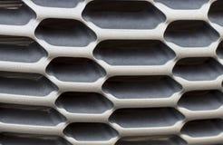 Czarny kaloryferowy grille Siatka samochód w górę, tekstura, tło zdjęcia stock