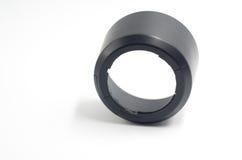 Czarny kamera obiektywu kapiszon Obrazy Stock