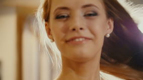 czarny kamery dziewczyny wizerunek target1349_0_ uśmiechniętego biel zbiory