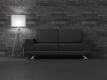 czarny kanapa Obraz Stock