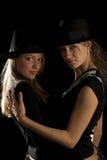 czarny kapelusz kobiety Fotografia Royalty Free