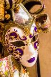 czarny karnawałowy dekoracyjny maskowy masque Venice Fotografia Royalty Free
