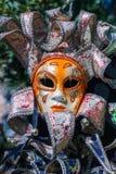czarny karnawałowy dekoracyjny maskowy masque Venice Obraz Stock