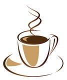 czarny kawa Obraz Royalty Free