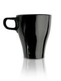 czarny kawowy kubek Fotografia Royalty Free