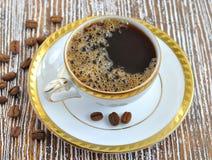 czarny kawy crema filiżanka Fotografia Stock
