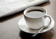 czarny kawy ranek Zdjęcie Stock