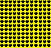 Czarny Kierowy kształt na Żółtym tle Serce kropki projekt Może używać dla Ilustracyjnego zamierza, tło, strona internetowa, bizne ilustracji