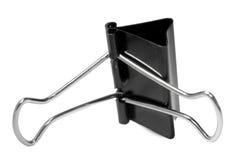 czarny klamerki metalu papier Zdjęcia Royalty Free