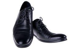 czarny klasyczni buty Obrazy Stock