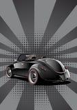 czarny klasyczny kabriolet Zdjęcie Royalty Free