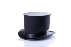 Czarny klasyczny odgórny kapelusz Zdjęcia Royalty Free