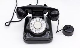 Czarny klasyczny telefon zdjęcia royalty free