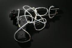 czarny klasyka pistoletu wizerunku klejnotów mafijny nadmierny Zdjęcie Stock
