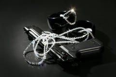 czarny klasyka pistoletu wizerunku klejnotów mafijny nadmierny Obrazy Stock