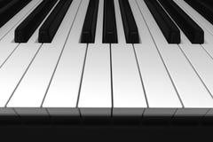 czarny klawiaturowych kluczy na pianinie rządu biały drewna Obraz Royalty Free