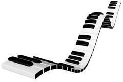 czarny klawiaturowych kluczy na pianinie rządu biały drewna Fotografia Stock