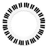 czarny klawiaturowych kluczy na pianinie rządu biały drewna Zdjęcia Stock