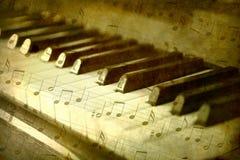 czarny kluczy fortepianowy biel Obraz Royalty Free