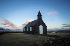 Czarny kościół Budir zdjęcie royalty free