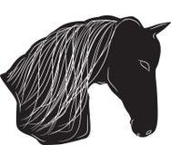 czarny końska sylwetka Zdjęcie Royalty Free