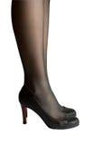 czarny kobieta iść na piechotę buty Obrazy Stock