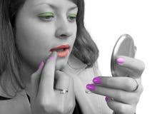 czarny kolorowym kosmetyków biała dziewczyna obrazy royalty free