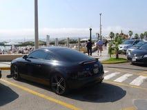 Czarny koloru Audi TT RS coupe w Lima Fotografia Stock