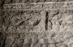 czarny koloru kamień z abstrakt teksturą i wzorem obraz royalty free