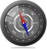 Czarny kompas Obraz Stock