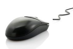 czarny komputerowa mysz Zdjęcie Stock