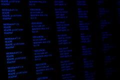 czarny komputerowej kartoteki ekranu system Zdjęcie Royalty Free