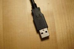 Czarny komputerowy USB kabel Obrazy Royalty Free