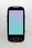 czarny komórki zieleni telefon Zdjęcie Stock