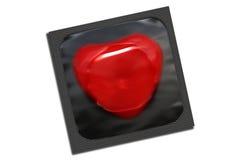 czarny kondoma kierowy pakunku kształt Fotografia Stock