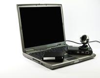 czarny konferencyjny szary laptopu fotografii wideo Zdjęcie Royalty Free