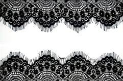czarny koronka Obraz Royalty Free