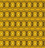 Czarny koronka wzór z żółtymi kwadratami Zdjęcia Royalty Free