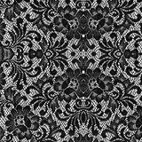 czarny koronkowa tekstura Zdjęcia Royalty Free