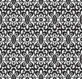 czarny koronkowy bezszwowy Obraz Royalty Free