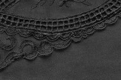 Czarny koronkowy tło Zdjęcie Stock