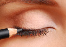 czarny kosmetyczny ołówek Zdjęcie Royalty Free