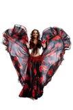 czarny kostiumowa tana gypsy czerwieni kobieta Zdjęcie Royalty Free