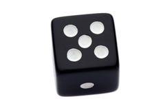 czarny kostka do gry Obrazy Stock