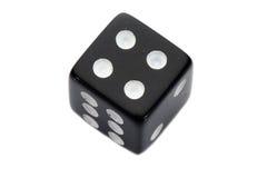 czarny kostka do gry Zdjęcia Stock