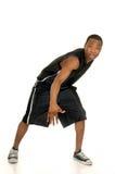 czarny koszykówka gracz Zdjęcia Stock