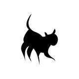 czarny kota sylwetka Zdjęcie Stock