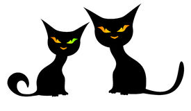 czarny koty Obrazy Stock